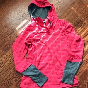 Athletic long sleeve hoodie